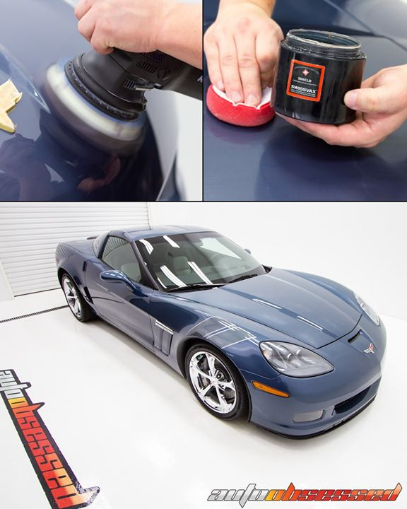 Auto Obsessed working on a 2011 Corvette Grand Sport