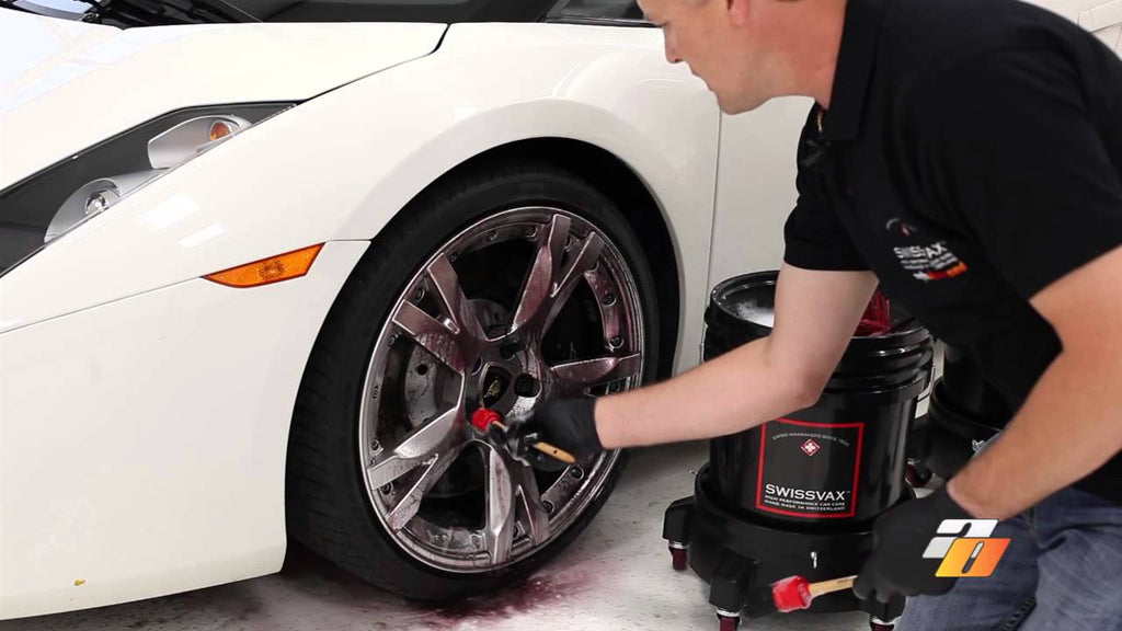 Detailing tutorial: How to wash car wheels and tires with Swissvax