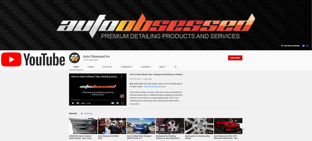 Auto Obsessed YouTube Channel How-To Tutorials Car Detailing