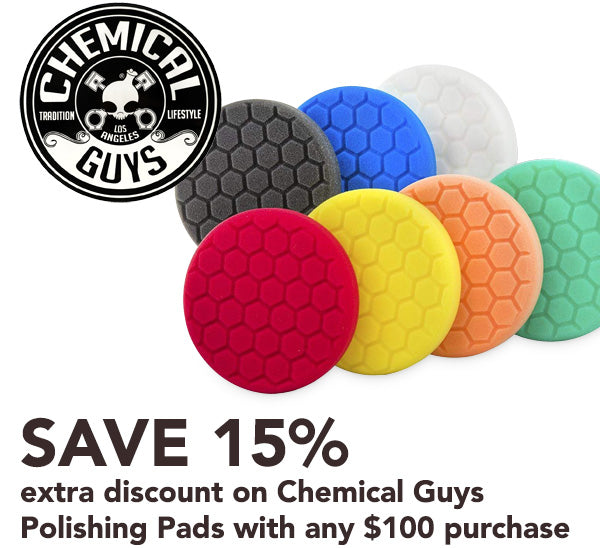 Chemical Guys extra discount polishing pads