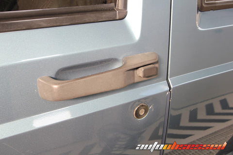 Plastic door handle before Solution Finish