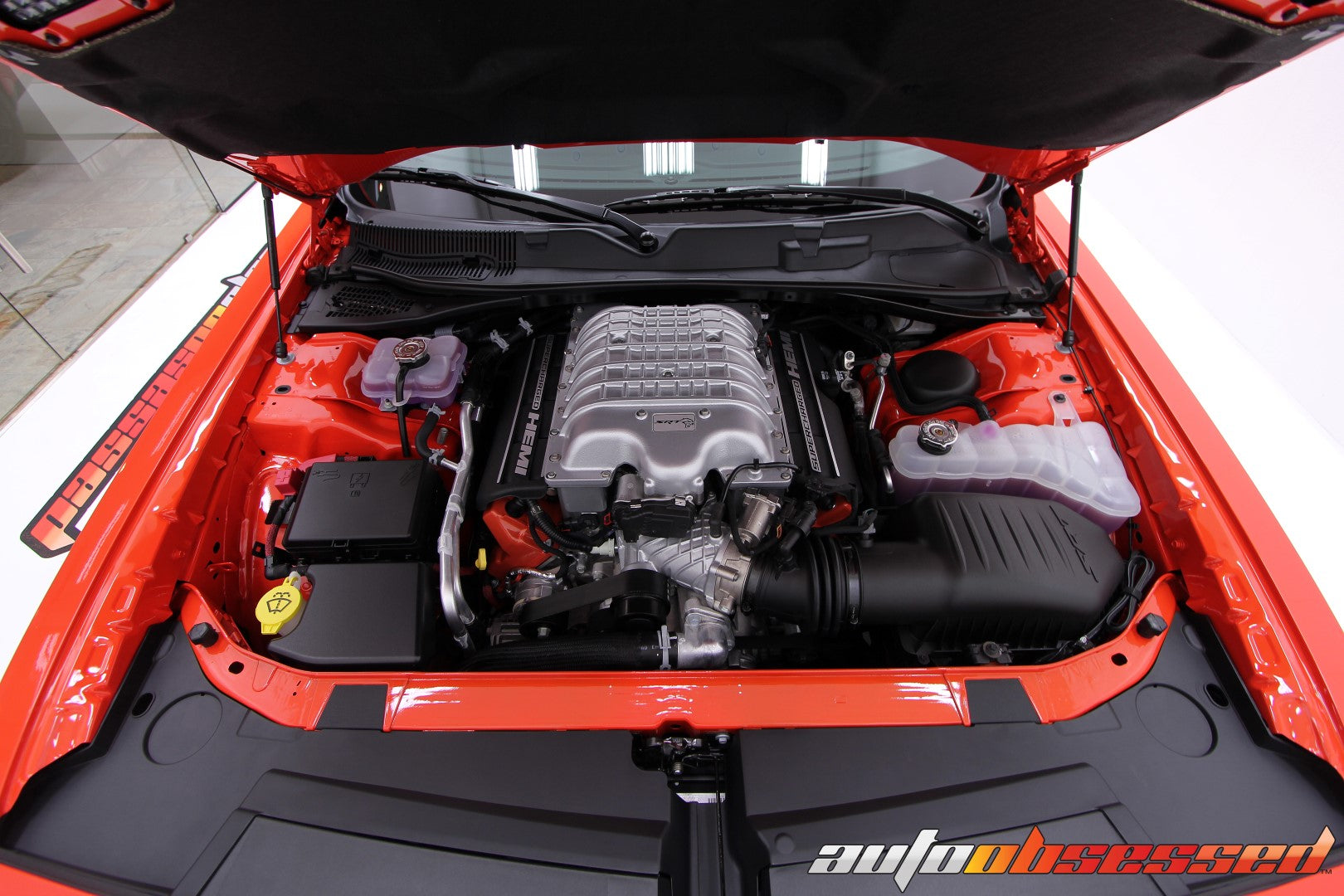 2018 Dodge Challenger Hellcat Engine Bay Detailing - Auto Obsessed