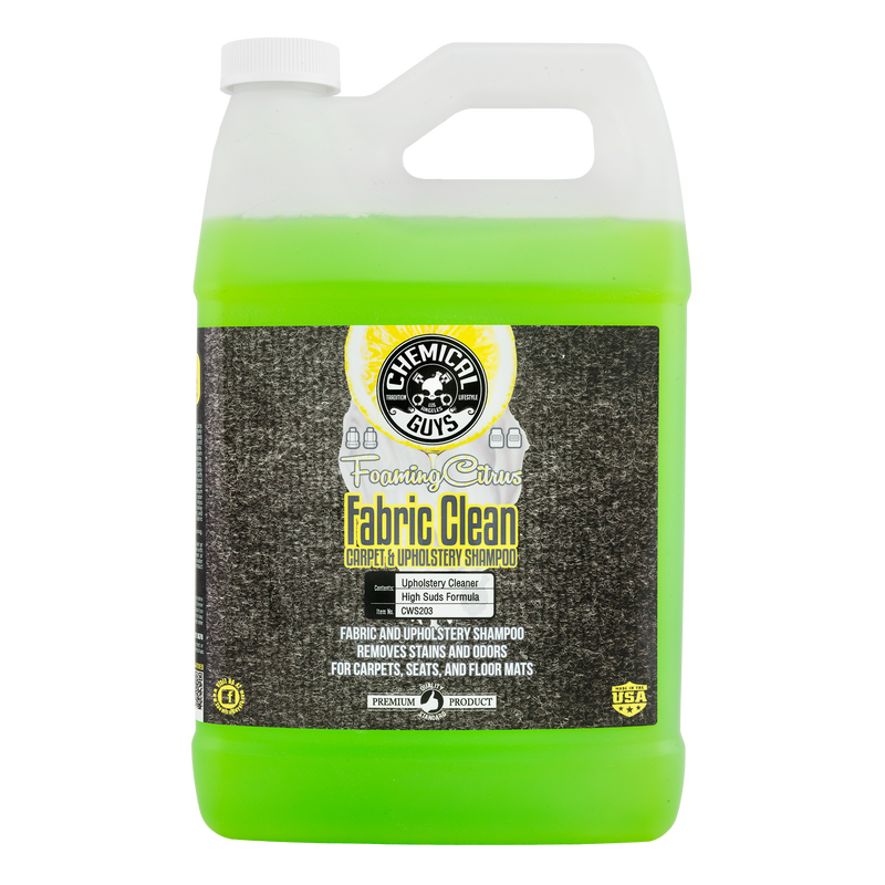 Chemical Guys Fabric Clean Carpet and Upholstery Shampoo and Odor Eliminator 1 Gal CWS_103 - Auto Obsessed