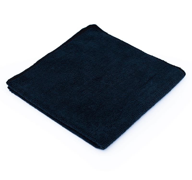 "Microfiber The Rag Company All-Purpose Terry Black 16"" x 16"" - Auto Obsessed"