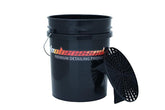 Bucket 5gal Black with Grit Guard