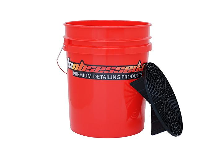 Bucket 5gal Red with Grit Guard