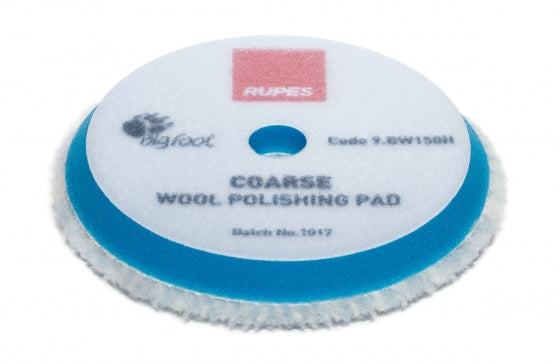 Rupes 150 mm (LHR15) Wool Blue Polishing Pad Coarse - Auto Obsessed