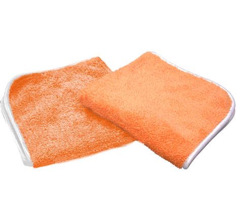 "The Rag Company Wizard Premium Plush Microfiber Polishing Towel Orange 16"" x 16"" - Auto Obsessed"