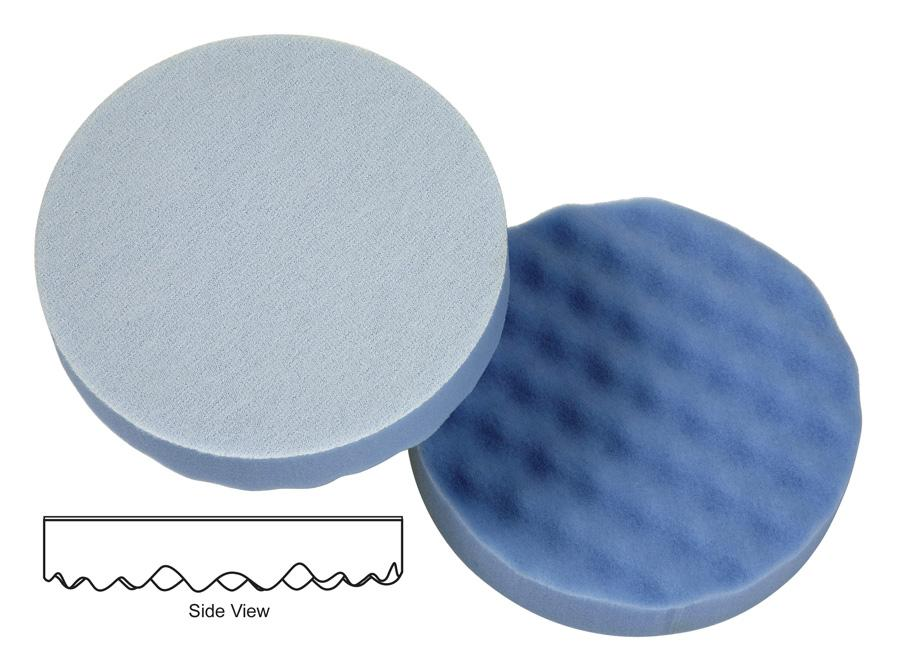 "_Lake Country 6.5"" Waffle Pro  Blue Finessing Pad - Auto Obsessed"