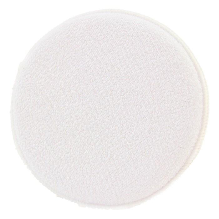 Microfiber Round White Applicator - Auto Obsessed