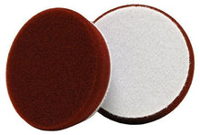 "Load image into Gallery viewer, Buff and Shine 3"" Uro-Tec Maroon Medium Cut Heavy Polishing Foam Pads 2-Pack - Auto Obsessed"