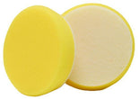 "Buff and Shine 3"" Uro-Tec Yellow Polishing Foam Pads 2-Pack - Auto Obsessed"
