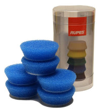 Load image into Gallery viewer, Rupes Bigfoot Nano iBrid 40mm (1.5in) Blue Coarse Foam Pad 6 Pack - Auto Obsessed