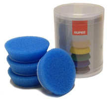 Load image into Gallery viewer, Rupes Bigfoot Nano iBrid 70mm (2.75in) Blue Coarse Foam Pad 4 Pack - Auto Obsessed