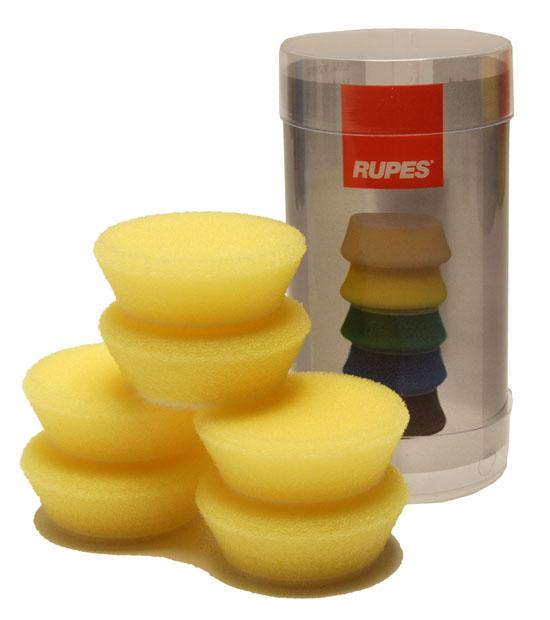 Rupes Bigfoot Nano iBrid 40mm (1.5in) Yellow Polishing Foam Pad 6 Pack - Auto Obsessed