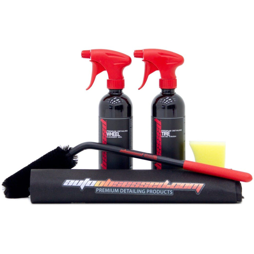 OBSSSSD Wheel Cleaning Kit with wheel cleaner and tire dressing