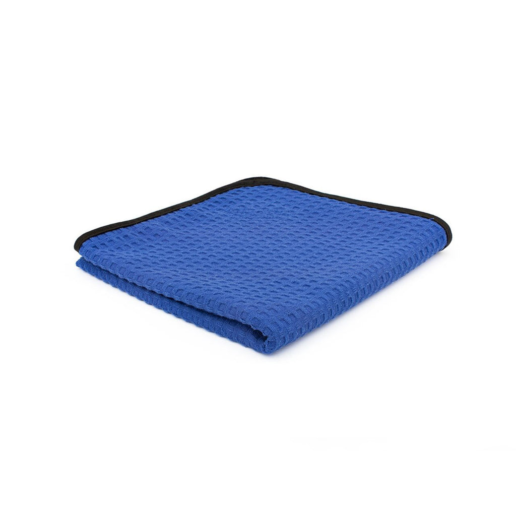 The Rag Company Dry Me A River JR Navy Blue Waffle Weave Microfiber Drying Towel - Auto Obsessed