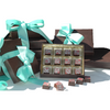 A box of chocolates filled with our signature salted caramel infused ganache