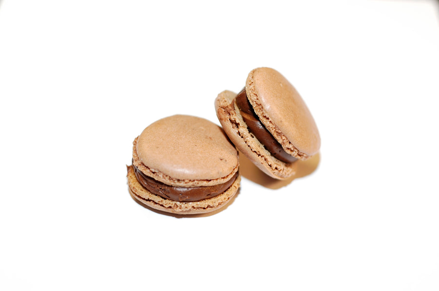 French macaroon with a caramel filling