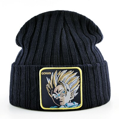 Men skullies beanies winter hats for men casual knitted caps women autumn cap beanie dragon ball embroidery hat bonnet gorro