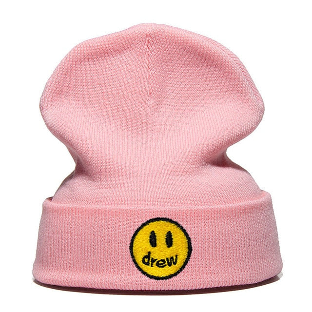 Knitted Hat Justin Bieber Cotton Casual Beanie for Men Women Winter Solid Color Hip-hop Skullies Hat Unisex DREW house