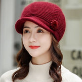 MAERSHEI Knitted Hat Women WinterBaseball cap Ladies Beanie Girls Skullies Caps Bonnet Femme SnapBack Warm Rabbit hair Wool Hat