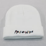 letter embroidery FRIENDS hat cotton flexible soft warm fashion winter hats for ski friendship knitted beanie cap hip hop