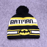 New Batmen Bonnet Knitting Hat Men Women Cap Ski Beanies Hat Hip Hop Caps Winter Hat Wool Pompom Hats Gorros Warm Beanie