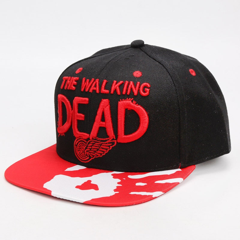 The Walking Dead Hat Adjustable Baseball Caps Canvas Embroidery Hip Hop Snapback Sunshade Hats