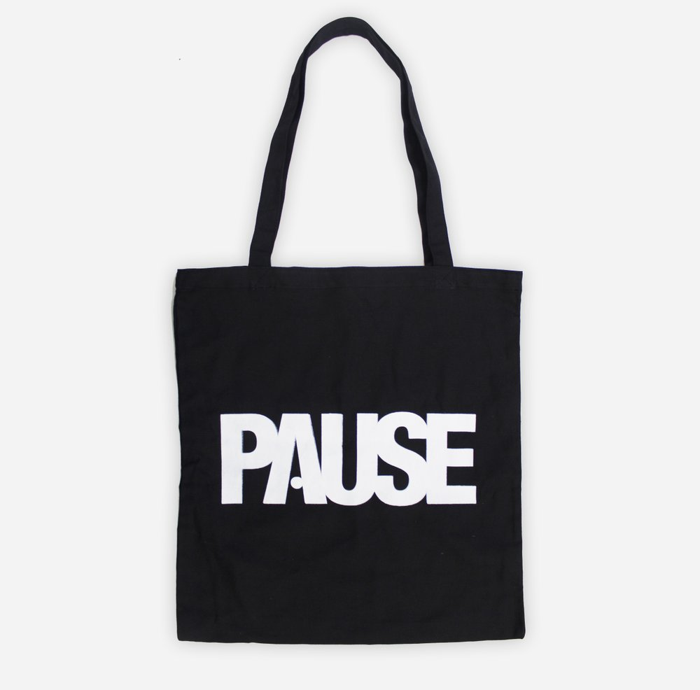 c39a5bfb2650 PAUSE - Black Tote Bag – PAUSE Online