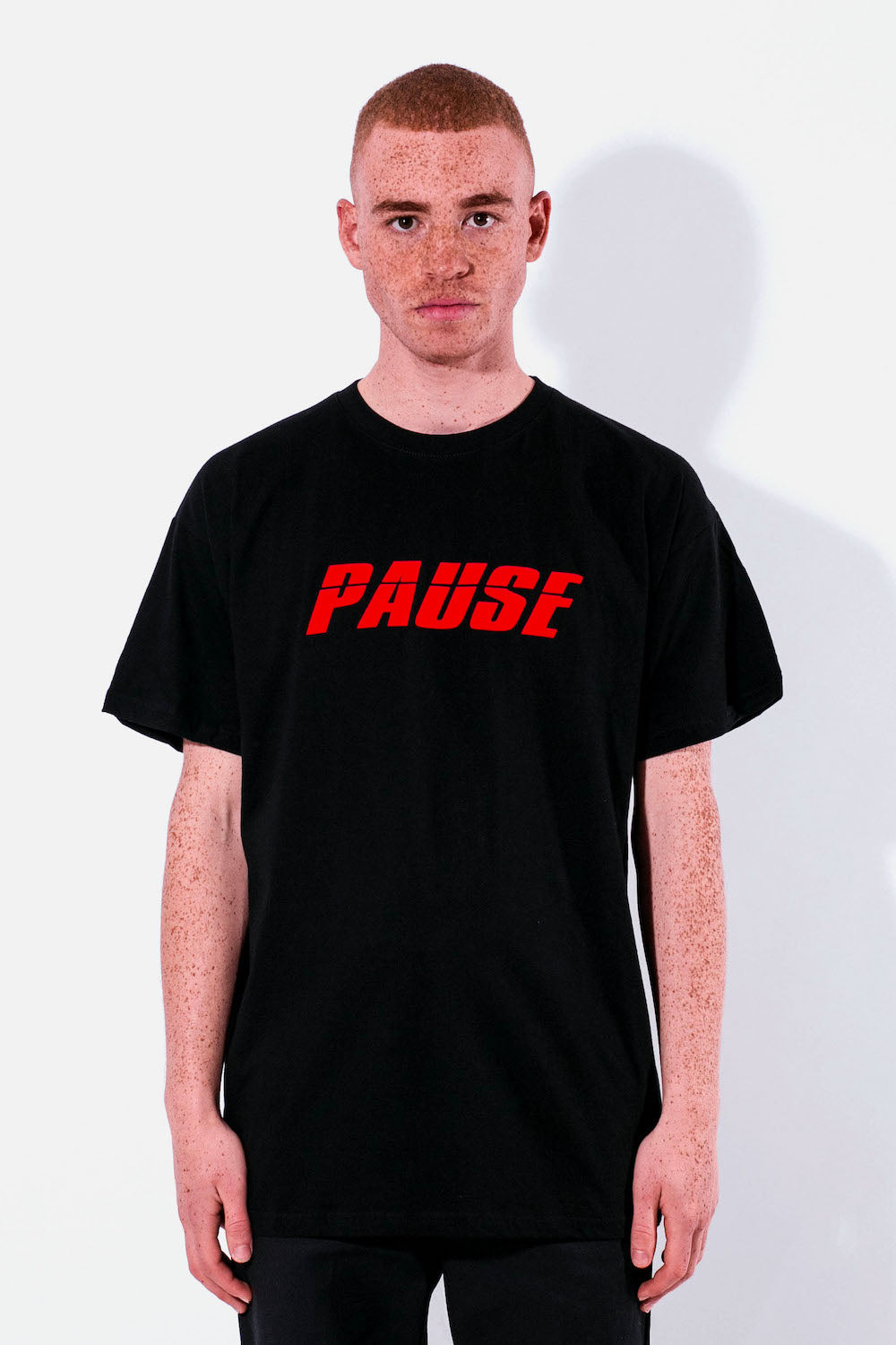 PAUSE - Red Logo Tee