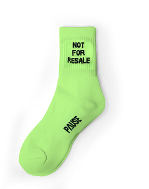 PAUSE 'Not For Resale' Neon Socks