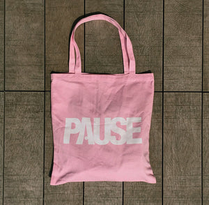 PAUSE - Baby Pink Tote Bag