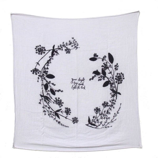 organic cotton swaddle (garland)
