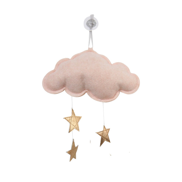 wall cloud mobile (rose gold stars)