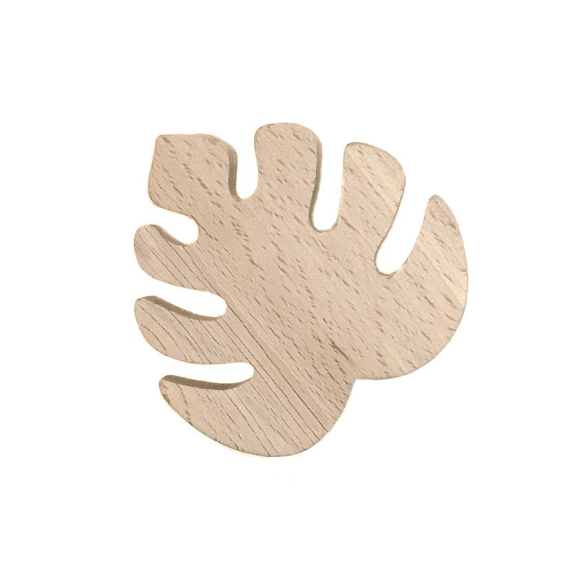 wooden wall hook leaf
