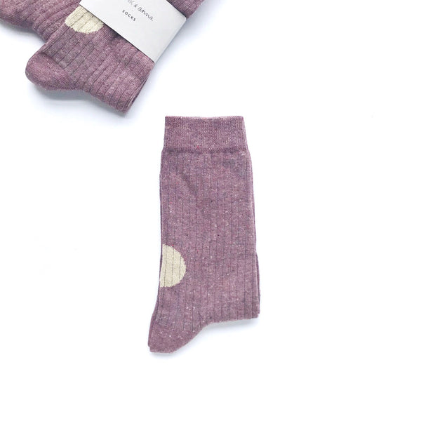 socks burgundy / gold glitter
