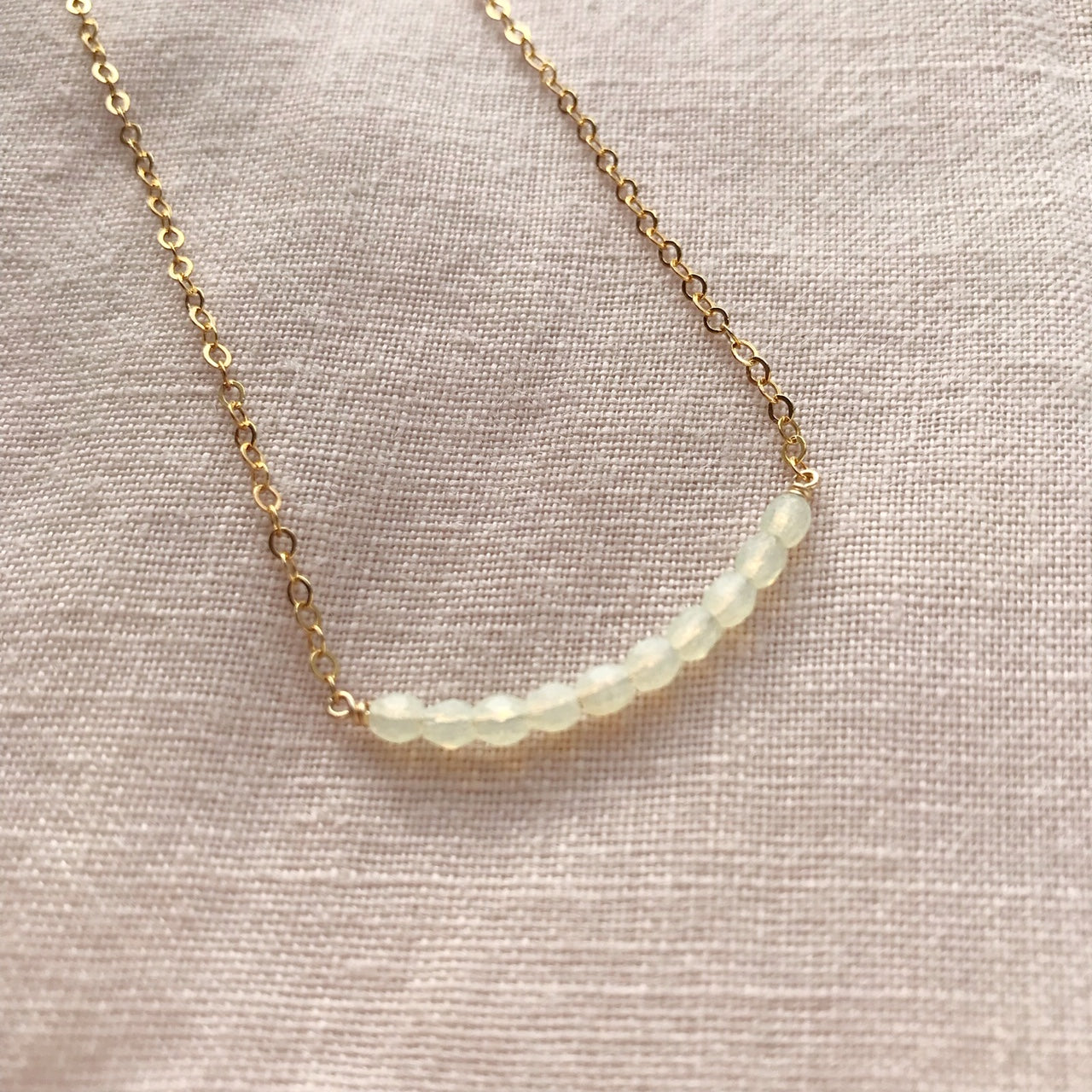 you and me necklace (honeydew)