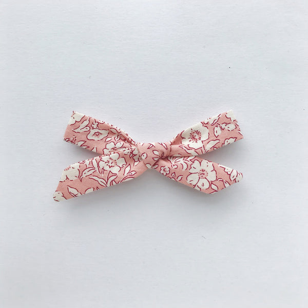 schoolgirl bow - liberty pink floral