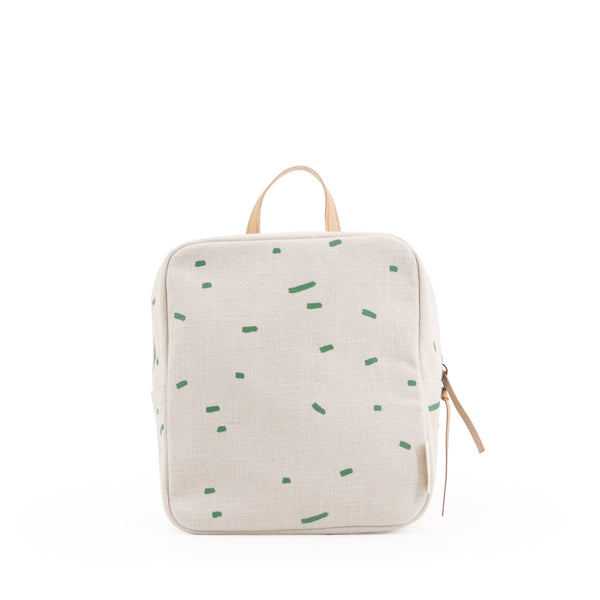 kodomo mini backpack green stripes