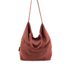 linen shopper - brick red