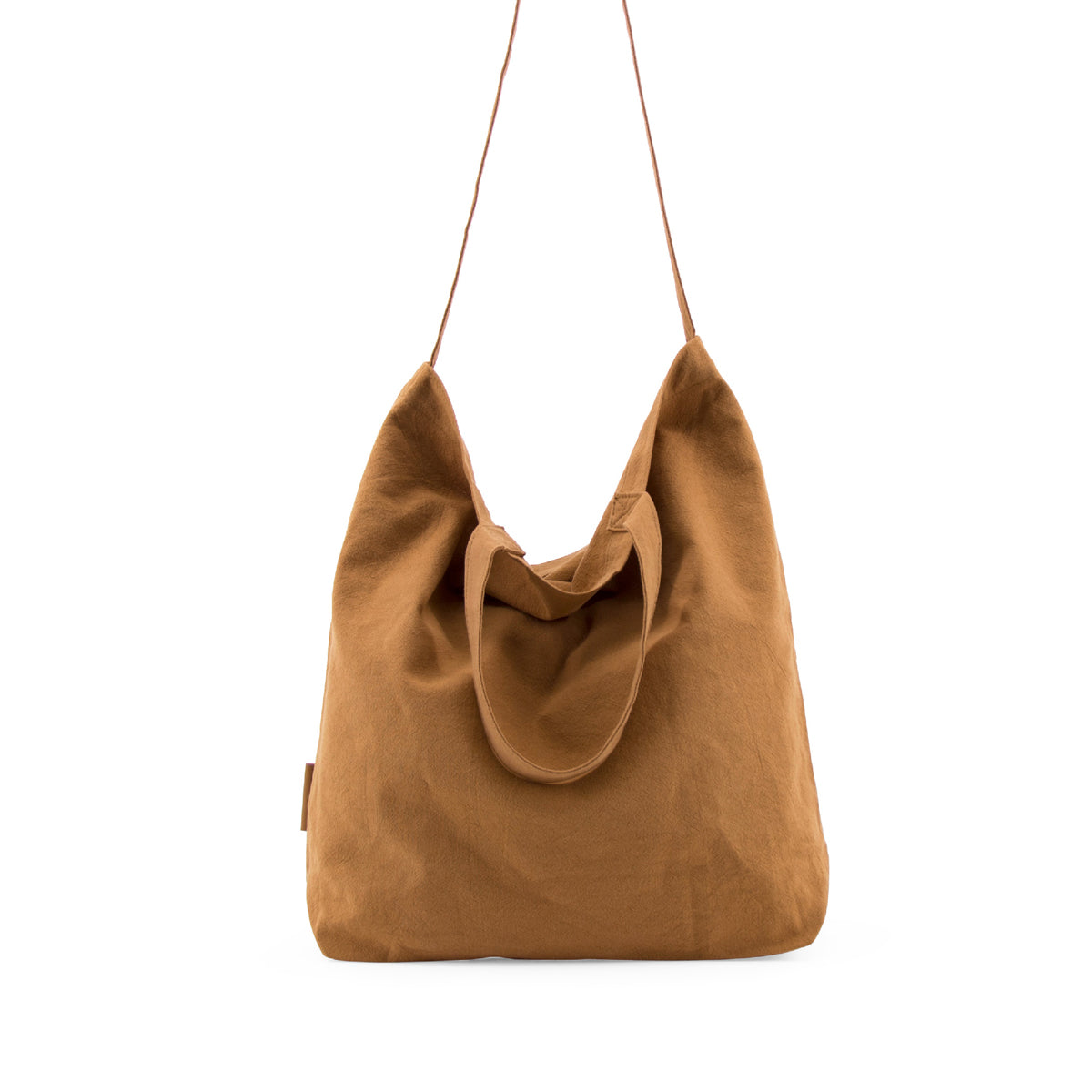 linen shopper - caramel fudge
