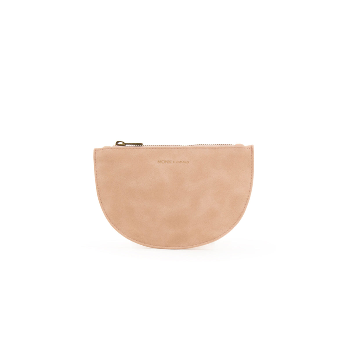 half moon wallet - soft pink