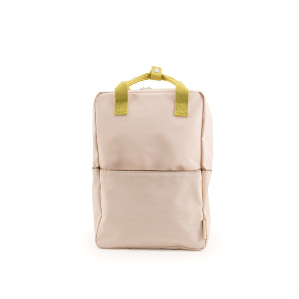 large backpack soft pink - gold glitter