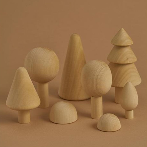 wooden forest set - natural