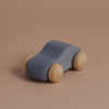 wooden toy car - silver