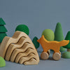 wooden mountains stacker - natural