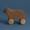 wooden rolling bear toy