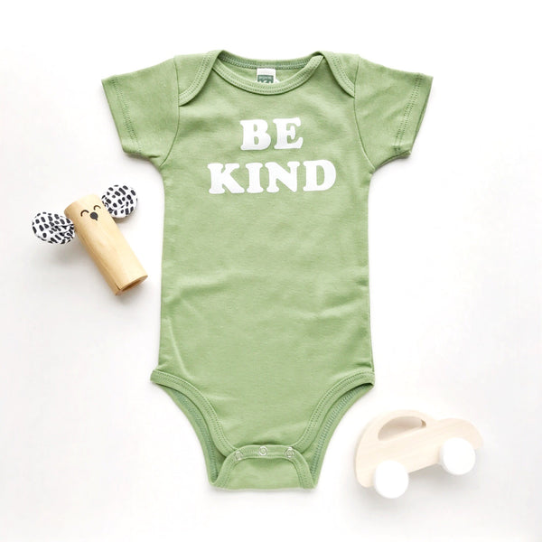 onesie be kind (sage)