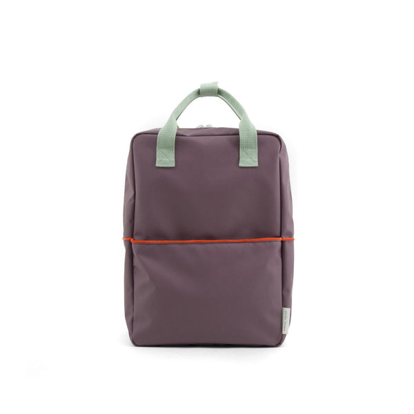 large backpack eggplant
